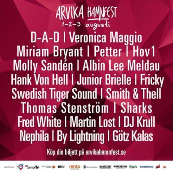 Arvika Hamnfest 2019 - alla artister