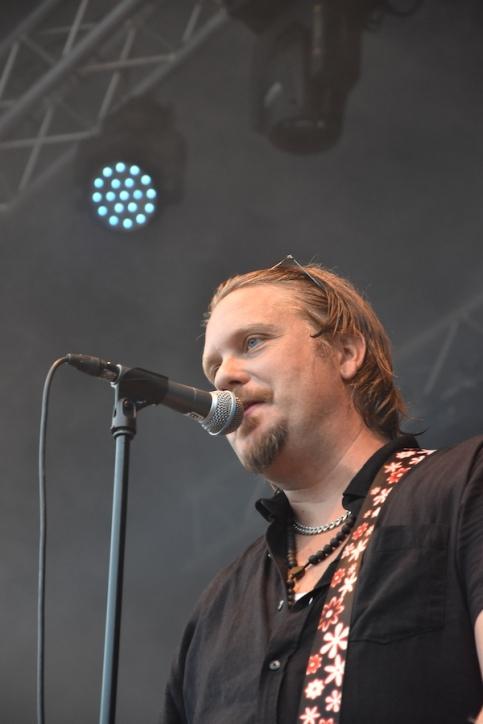 Alex Haglund på By Lightnings konsert på Arvika Hamnfest 2019. Foto: David Fryxelius.