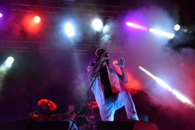 Hank Von Hell på Arvika Hamnfest 2019. Foto: David Fryxelius.