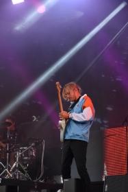 Musiker på Molly Sandéns konsert på Arvika Hamnfest 2019. Foto: David Fryxelius.