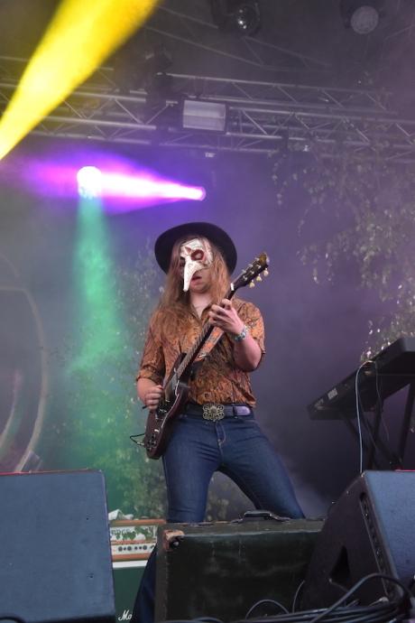 Jacob Hellenrud i Nephila på Arvika Hamnfest 2019. Foto: David Fryxelius.