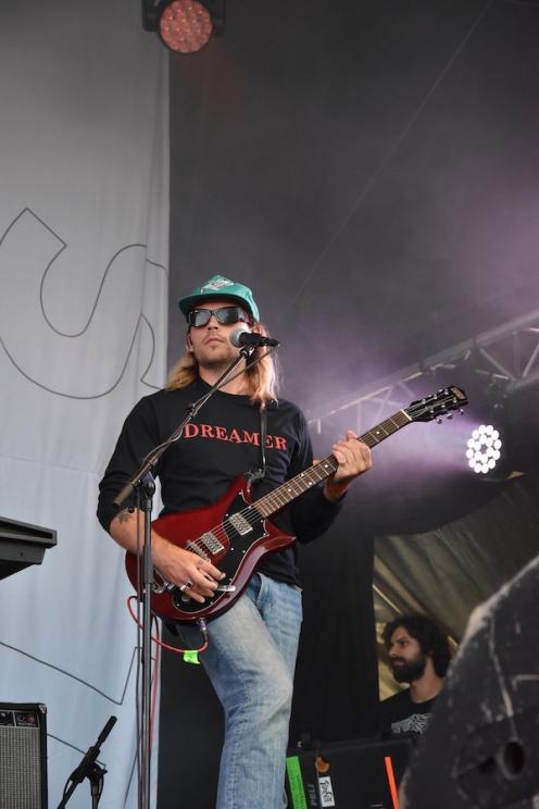 Musiker på Thomas Stenströms konsert på Arvika Hamnfest 2019. Foto: David Fryxelius.
