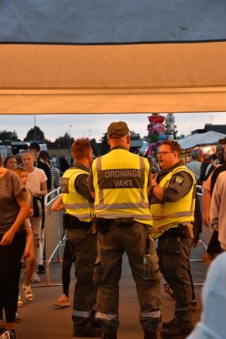 Vakter på Arvika Hamnfest 2019. Foto: David Fryxelius.