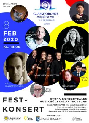Affisch: Glafsfjordens musikfestival 2020