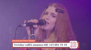 "Dotter på insamlingsgalan ""Music against Covid-19""."