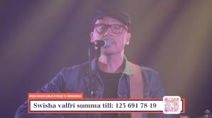 """Pärra Eriksson på insamlingsgalan """"Music against Covid-19""""."""