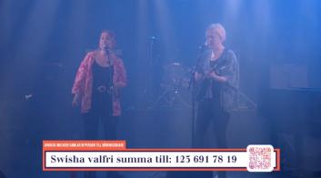 """Systrarna Ericsson på insamlingsgalan """"Music against Covid-19""""."""