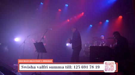 """X-Rays på insamlingsgalan """"Music against Covid-19""""."""