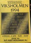 Affisch Viksholmsfestivalen 1994.