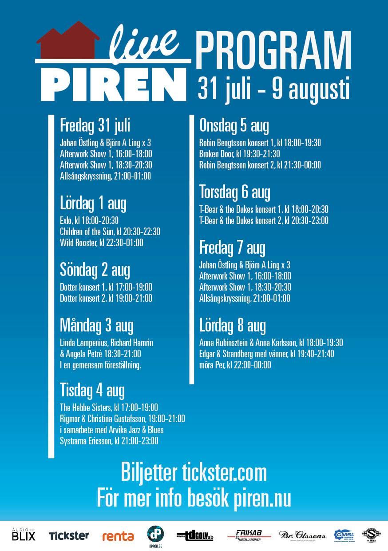 Affisch Piren Live 2020