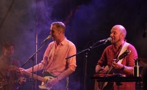 Johan Östling och Björn A. Ling på Allsångskryssning på Piren Live 2020. Foto: David Fryxelius.