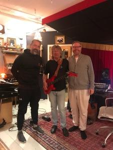 Ola Gustafsson, Janne Schaffer och Andreas Dahlbäck. Foto: privat.