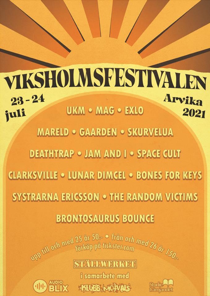 Affisch Viksholmsfestivalen 2021