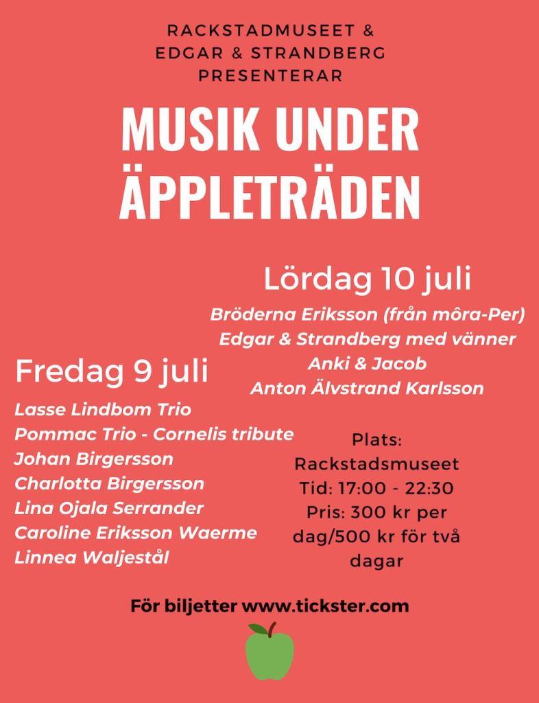 Affisch: Musik under äppleträden 2021